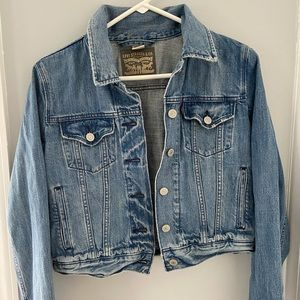 Distressed Denim Levi Jacket